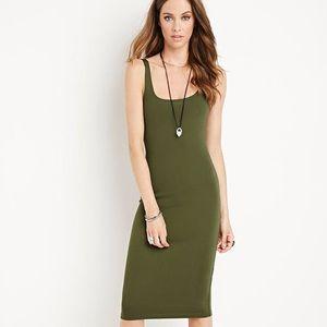 Bodycon Olive Green Dress